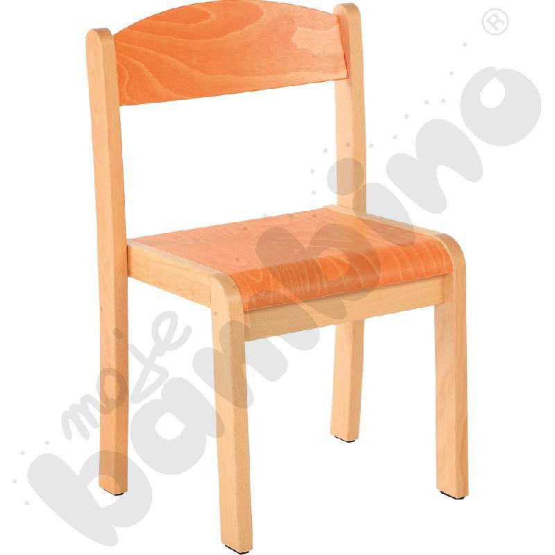 Krzesło Filipek pomarańczowe ze stopką filcową rozm. 1