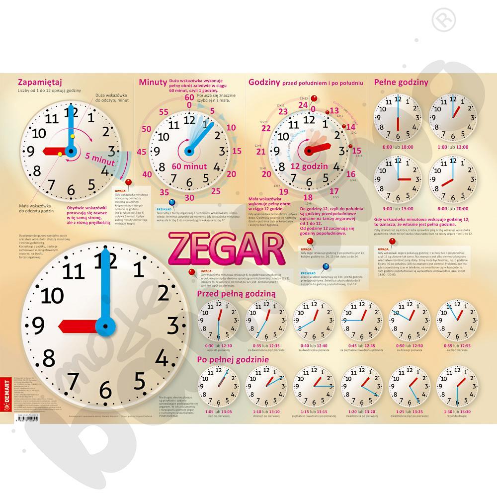 Zegar edukacyjny - plansza...