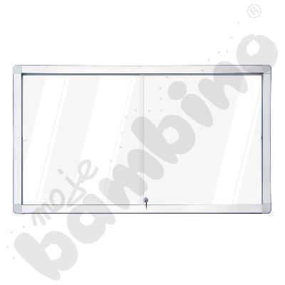 Gablota wewnętrzna suchościeralno-magnetyczna z przesuwnymi drzwiami 97 x 70 cm