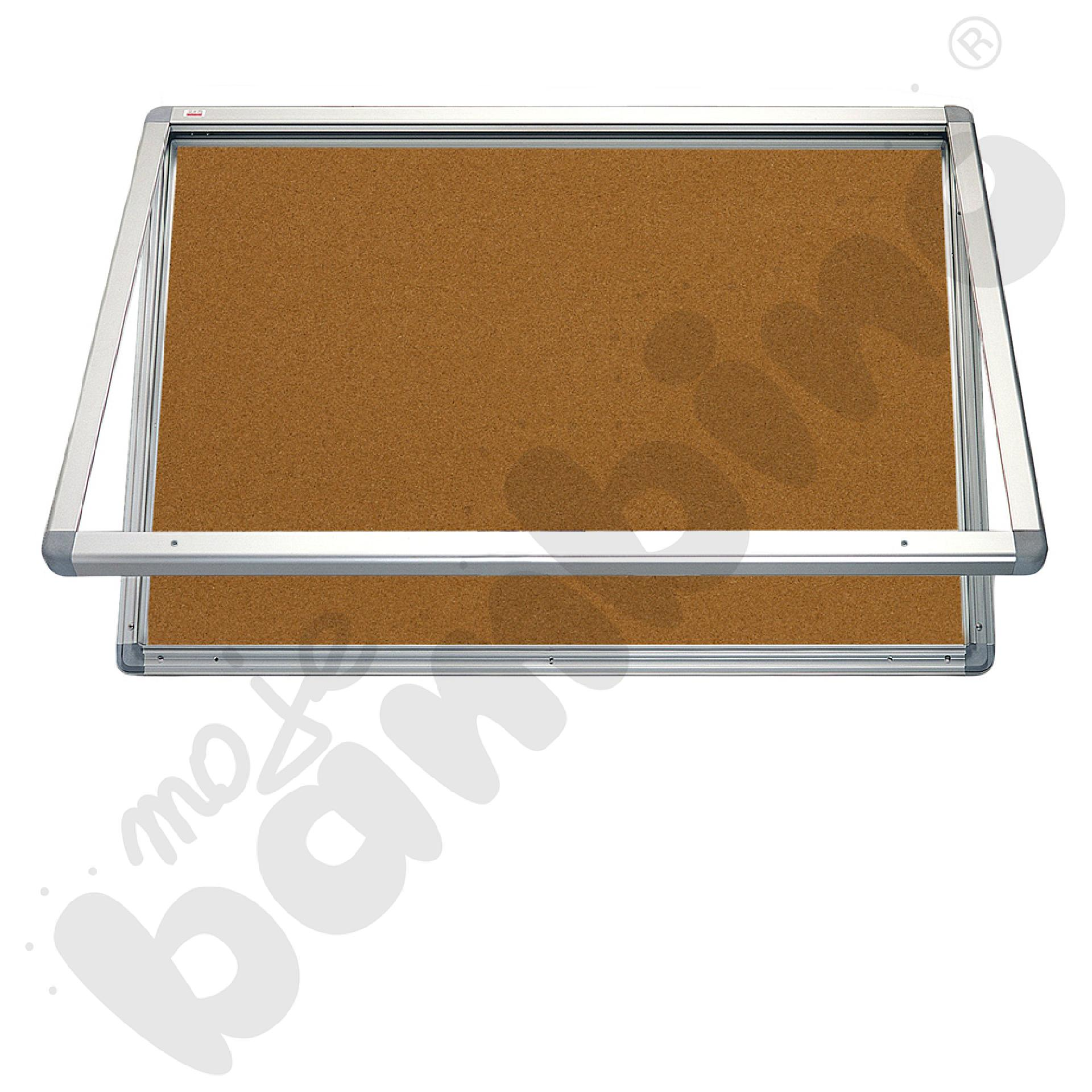 Gablota wewnętrzna otwierana do góry korkowa 90 x 60 cm