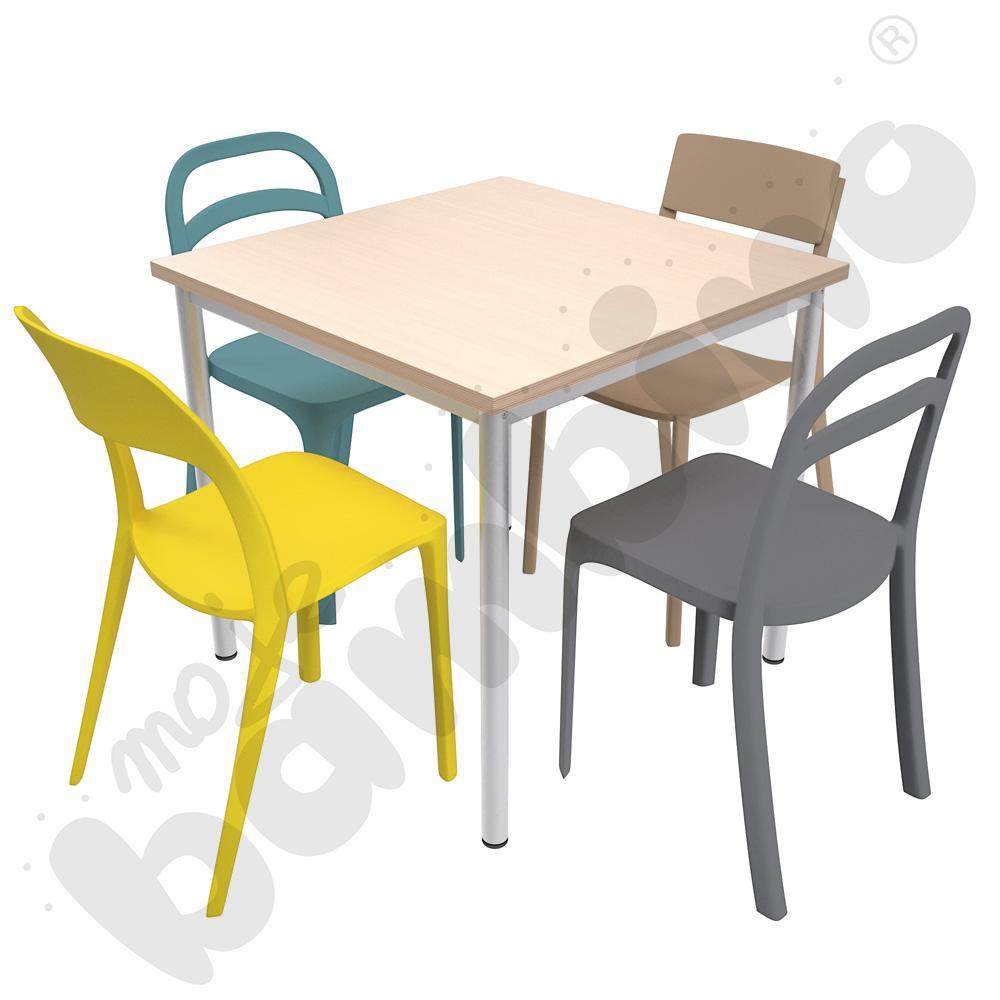 Stół Mila 80 x 80 klon z...