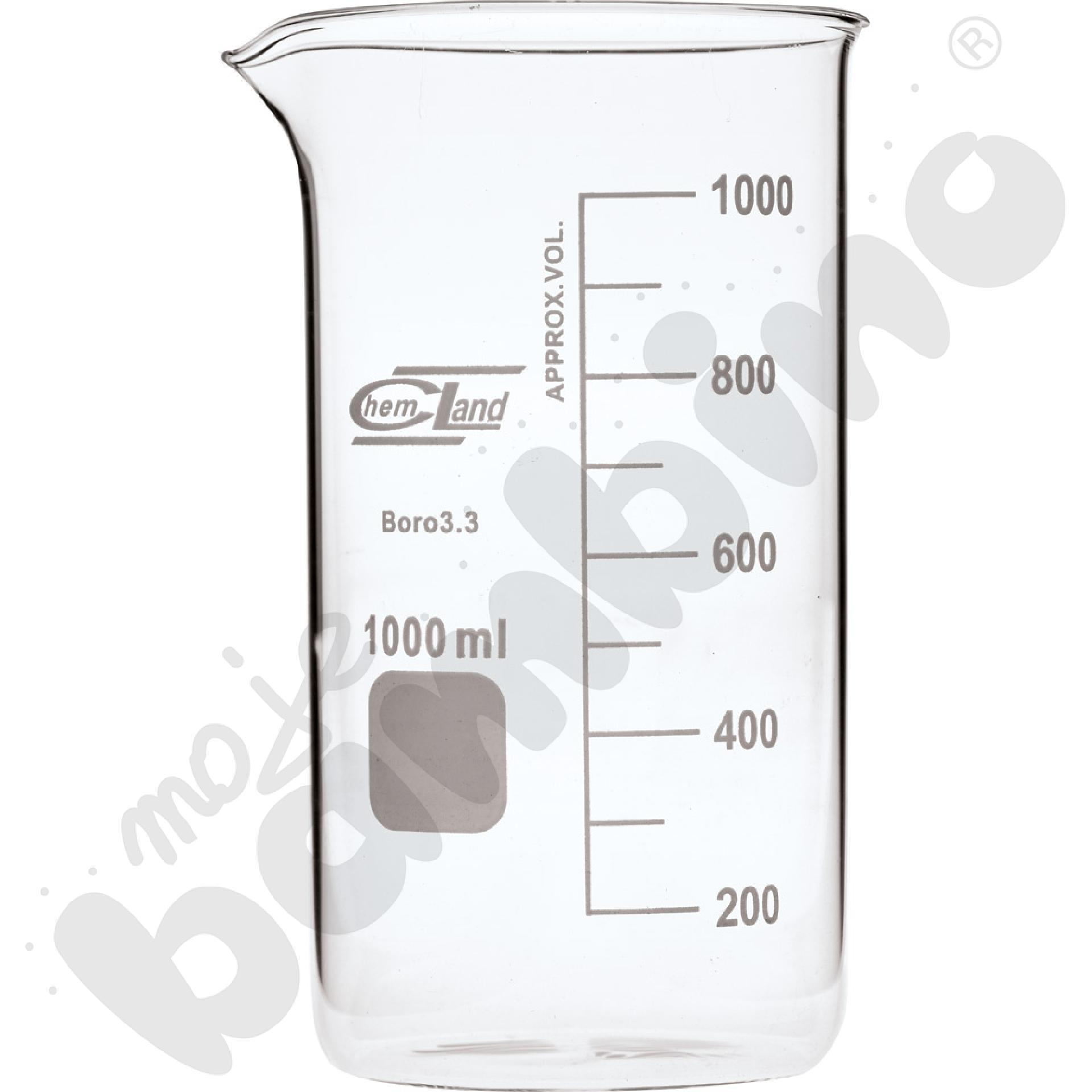 Zlewka wysoka szklana 1000 ml