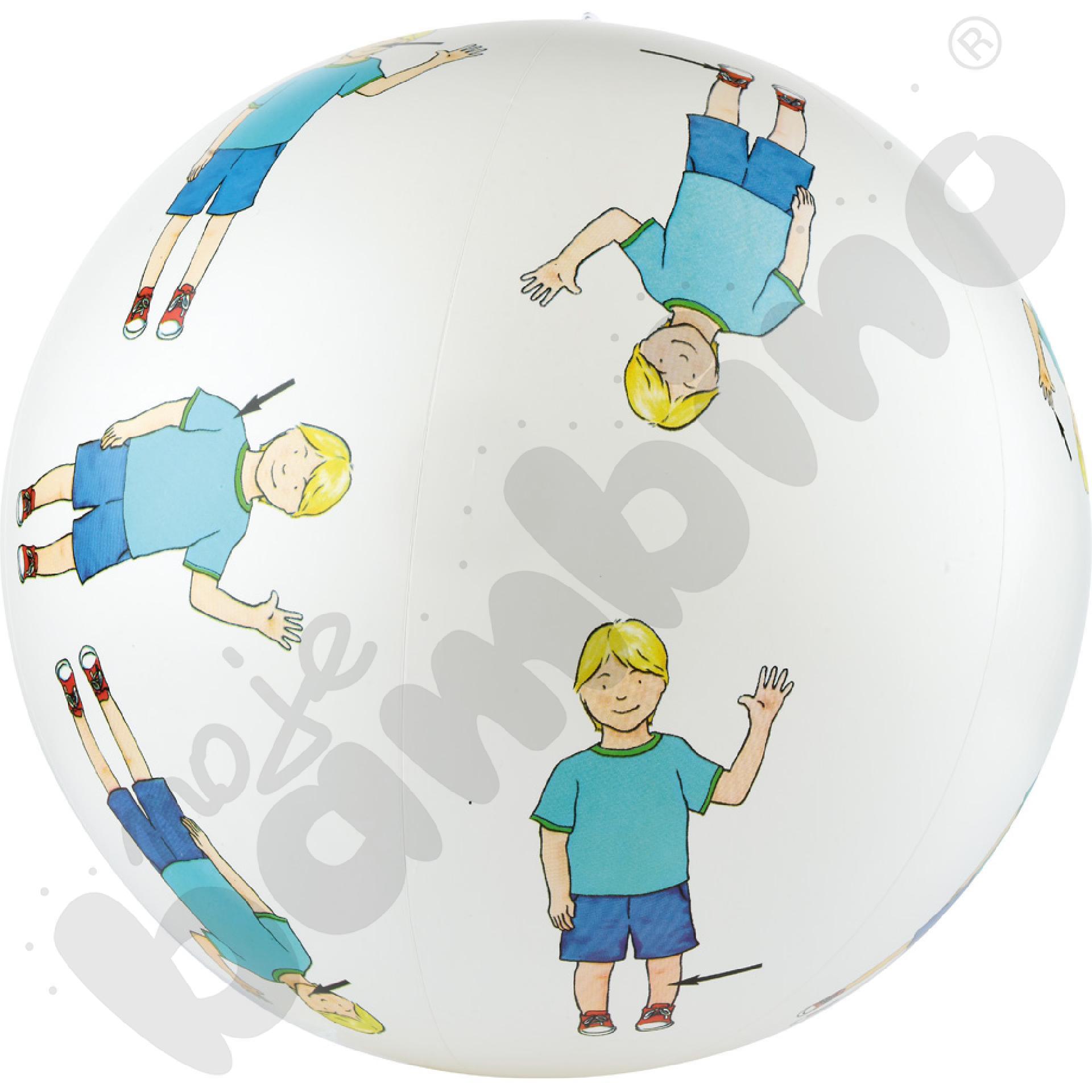 Piłka - części ciała