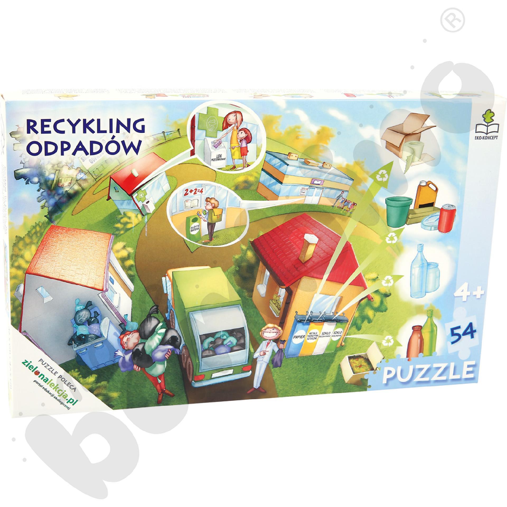 Recykling odpadów - puzzle