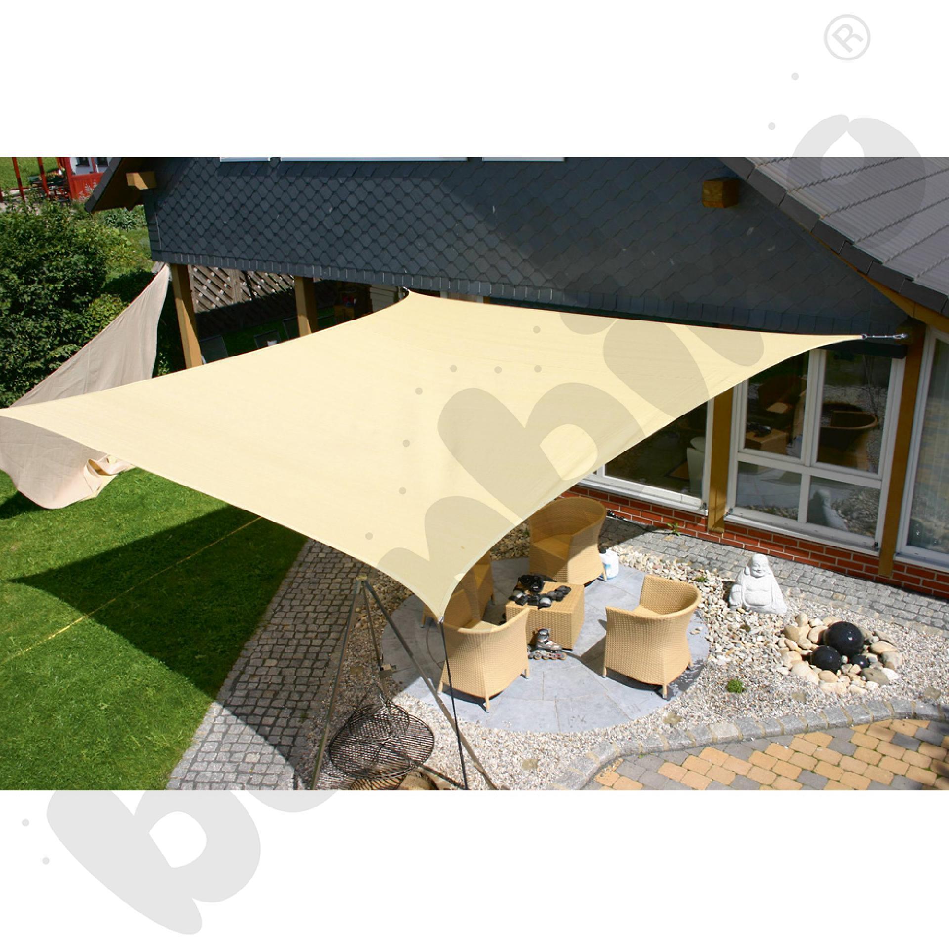 Materiałowy dach ochronny 4 x 6 m beżowy