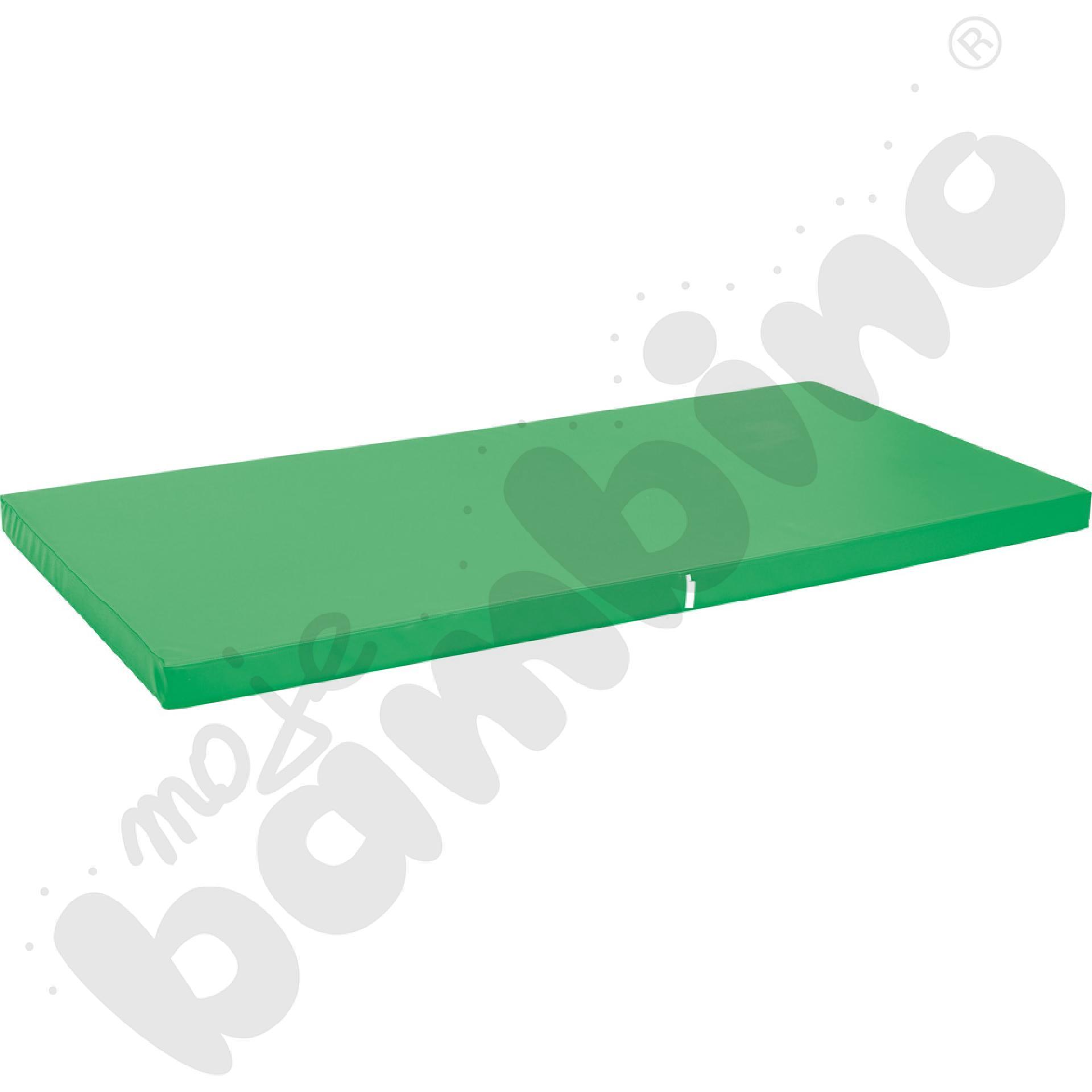 Materac antypoślizgowy wym. 183 x 90 x 8 cm zielony