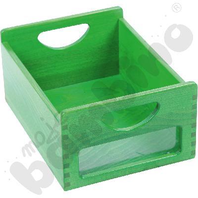 Pojemnik zielony z okienkiem