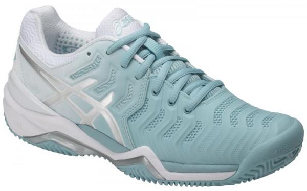 Damskie buty tenisowe Asics Gel Resolution 7 Clay porcelain bluesilverwhite